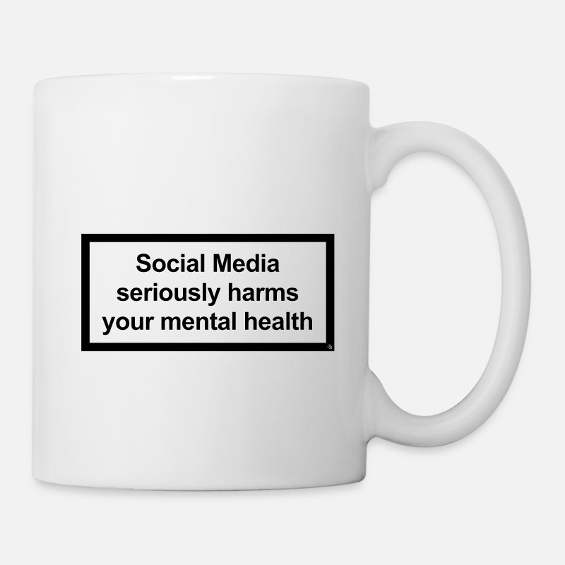 Illuminati Mugs & Drinkware - Social Media seriously harms your mental health - Mug white
