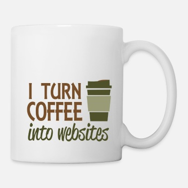 Website I turn coffee into websites - Mug