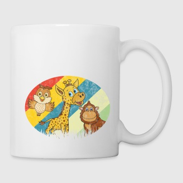 Retro Vintage Giraffe Gorilla Owl Bird Monkey - Coffee/Tea Mug