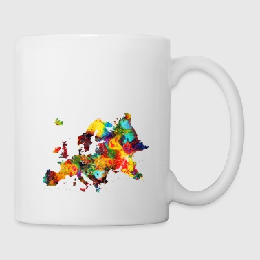 Art Map of Europe - Coffee/Tea Mug