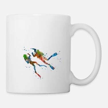 Scuba Scuba divers, scuba divers couple - Coffee/Tea Mug