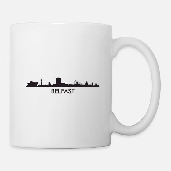 Belfast Mugs & Drinkware - Belfast Northern Ireland Skyline - Mug white