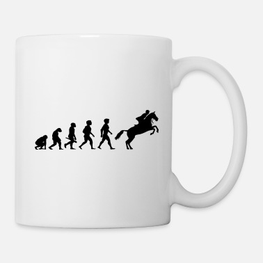 Equitation Evolution Horses Riding Harness Racing Equitation - Coffee/Tea Mug