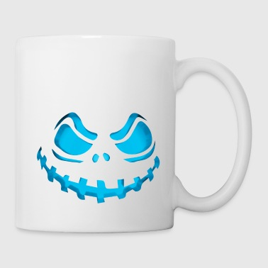 Scary Evil Pumpkin Face Halloween Jack-O-Lantern - Coffee/Tea Mug