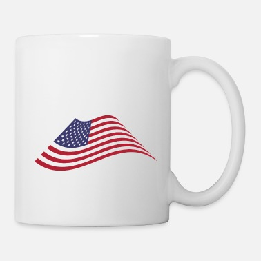 Wave American Flag Waving - Mug