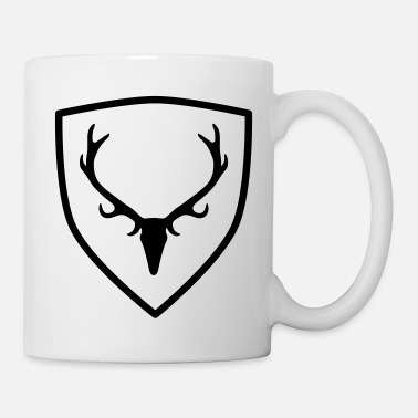 Antler coat of arms with antlers - Mug
