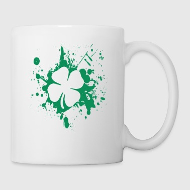 splatter clover - Coffee/Tea Mug