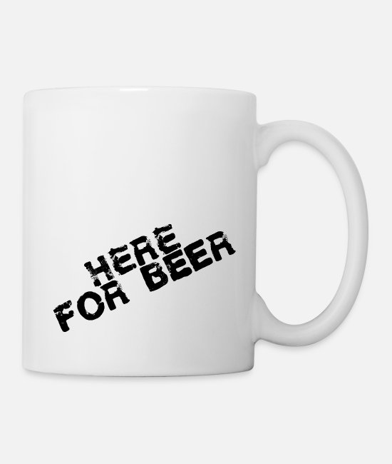 Herefordshire Mugs & Cups - here for beer, beer - Mug white