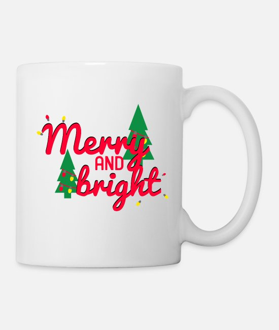 Christmas Mugs & Cups - Merry and Bright - Mug white