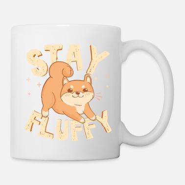 Fluffy Stay Fluffy. Akita Inu. Cute Dog illustration - Mug