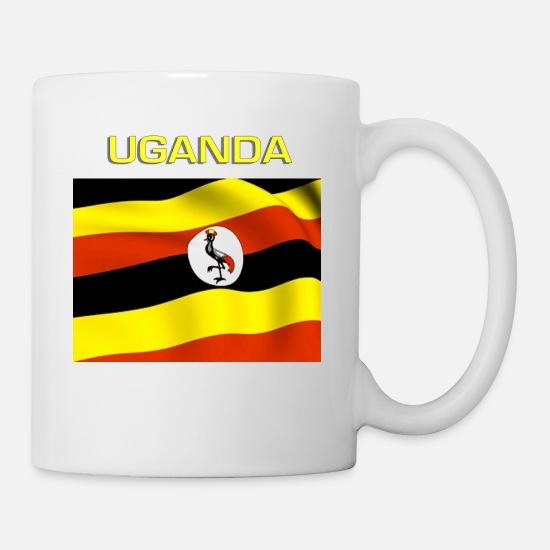 Ugandan Flag Coffee/Tea Mug - white