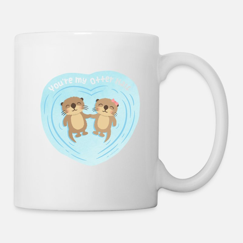 Love Mugs & Drinkware - You Are My Otter Half - Mug white