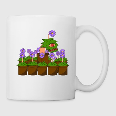 Plant monster disguise halloween teeth - Coffee/Tea Mug