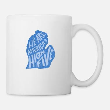 Island Michigan - We Are America's High Five - Mug