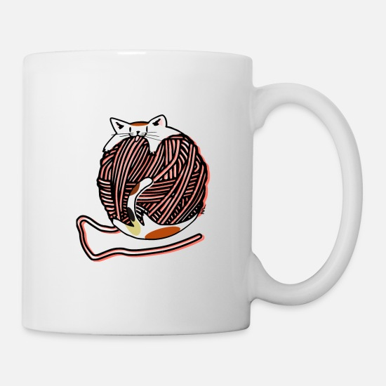 Animal Mugs & Drinkware - Wool Ball Robber - Mug white