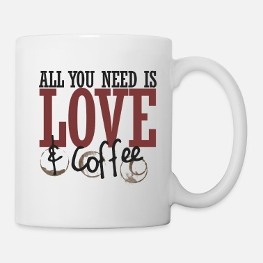 Wedding All you need is love and coffee - Mug