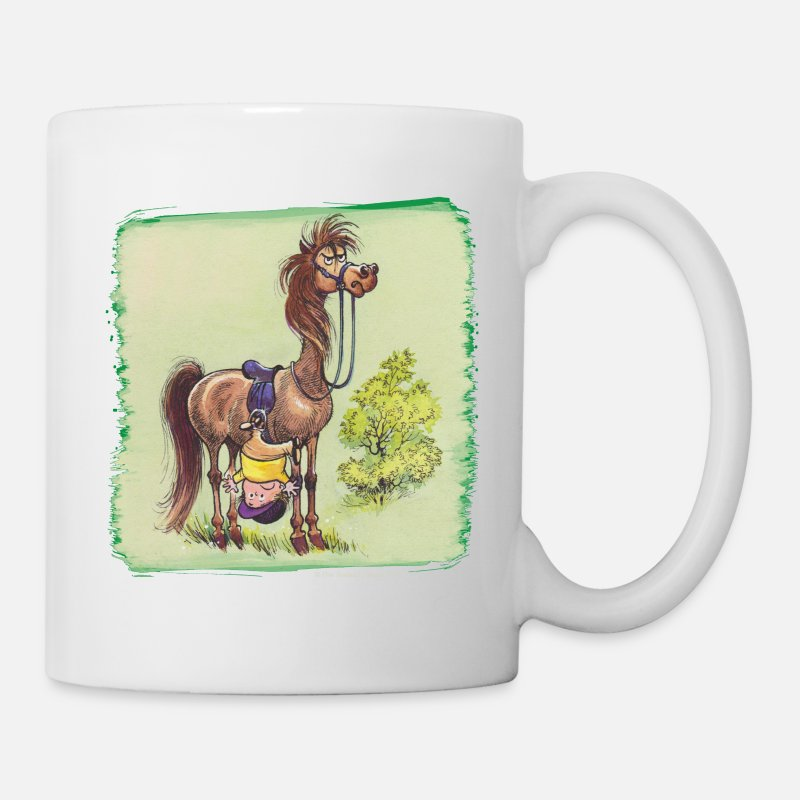 Officialbrands Mugs & Drinkware - Thelwell Rider Hangover under Pony - Mug white