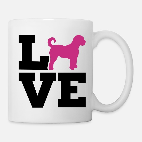 Love Mugs & Drinkware - Labradoodle - Mug white