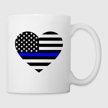 Thin blue line Heart Police Support - Coffee/Tea Mug
