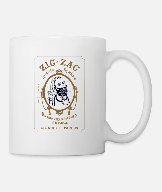 Cigarette Mugs & Cups - zig zag papers - Mug white