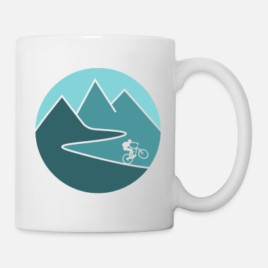 Mountain Biking mountain bike cycling mountains - Coffee/Tea Mug