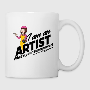 Female Artist - What's your Superpower - Coffee/Tea Mug