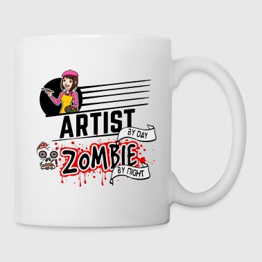 Female Artist - Zombie by night - Coffee/Tea Mug