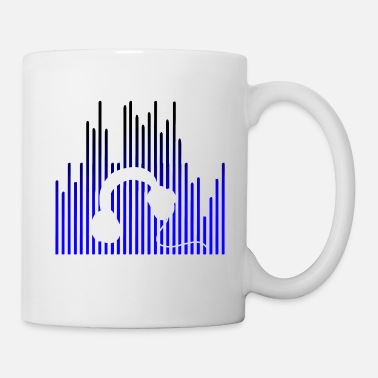 Deejay EQUALIZER and Headphones - Coffee/Tea Mug