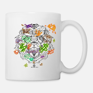 Graffiti RM-Neon Lion - Coffee/Tea Mug