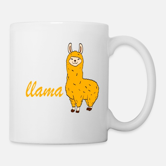 Camel Mugs & Drinkware - Alpaca Shirt With An Image Of Cute Yellow Mustard - Mug white
