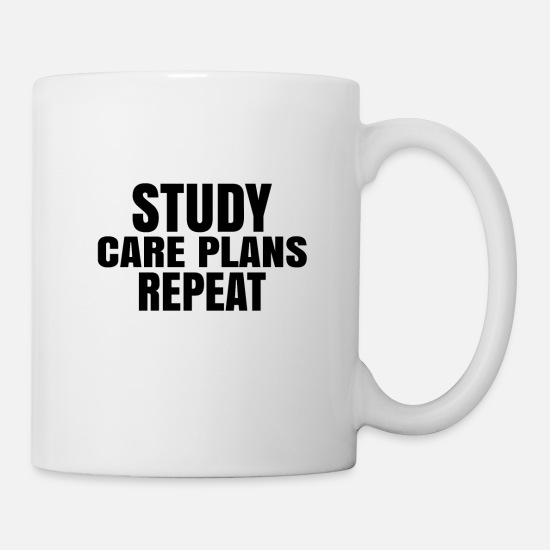 Career Mugs & Drinkware - CARE PLANS - Mug white