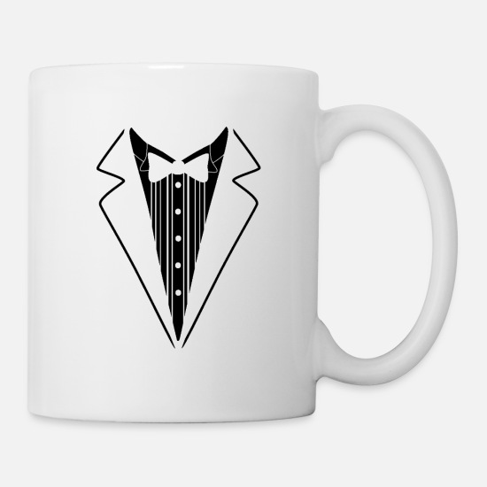 Year Mugs & Drinkware - Tuxedo Tie Neck Business Formal Official Suit Tux - Mug white