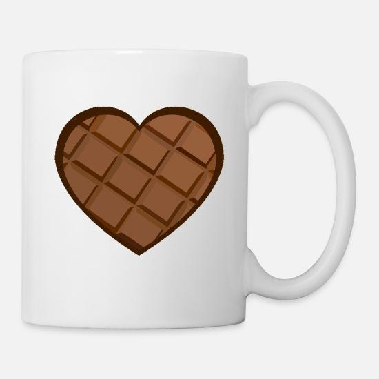 cb85e3e598c Schokoholic is looking for chocolate heart gif Coffee/Tea Mug - white
