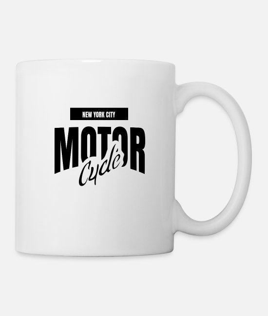 Motor Boat Mugs & Cups - Motor cycle - Mug white
