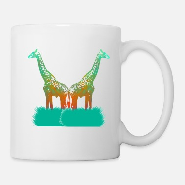 Grass A Cute Animal Tee For Giraffe Lovers With A Nice - Mug