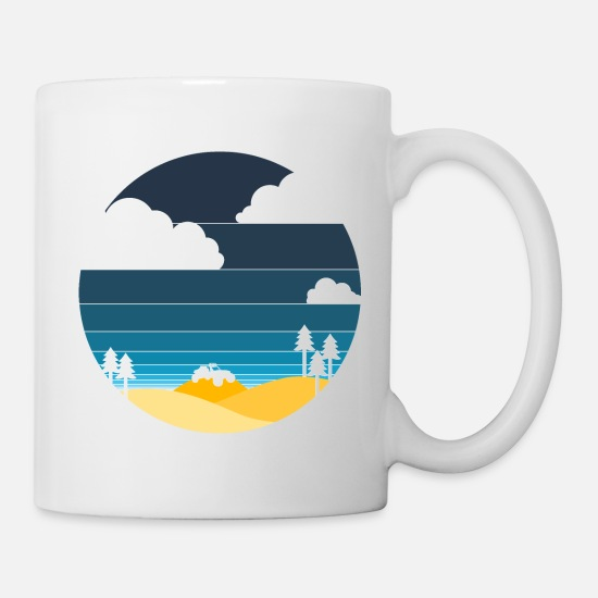 Cloud Mugs & Drinkware - Oregon dunes - Mug white