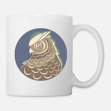 Totem Tawny Brown Owl| Sideview| Glowing Feathers - Mug