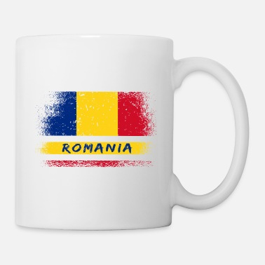 Romanesque Romania Vintage Design / Flag - Mug