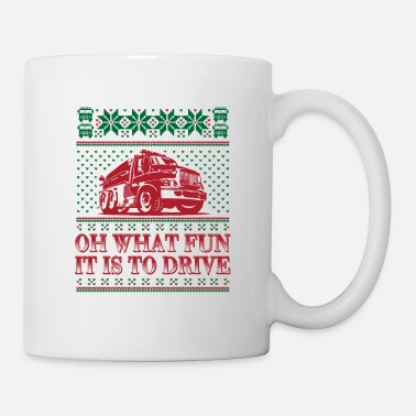 Fighter Ugly Christmas Firetruck - Mug