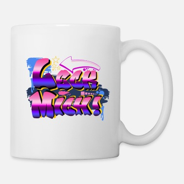 Sprayer Lick me graffiti style humor design - Mug