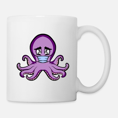 Sad Cute Little Baby Octopus - Mug