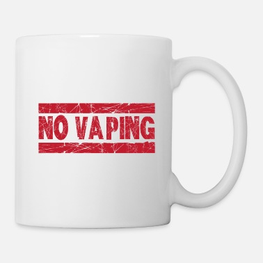 Vaping No Vaping Red Ink Stamp - Mug