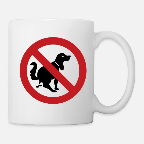 Dog Mugs & Drinkware - NO Dog Poop Sign - Mug white