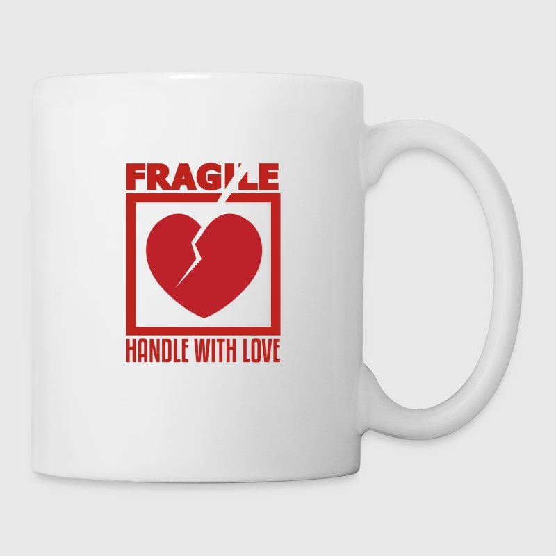 Fragile, Handle With Love, Funny T Shirt Design - Coffee/Tea Mug