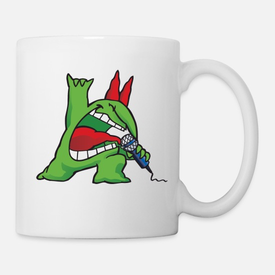 Mascot Mugs & Drinkware - Just For Laughs Gags Victor rockstar - Mug white