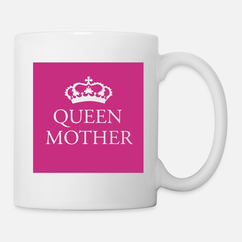 Mother Mugs & Drinkware - Gin O'Clock Queen Mother - Mug white