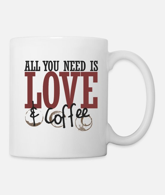 Office Mugs & Cups - All you need is love and coffee - Mug white