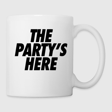 the party is here - Coffee/Tea Mug