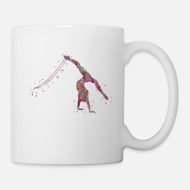 Wall Gymnastics girl, watercolor gymnastics - Coffee/Tea Mug
