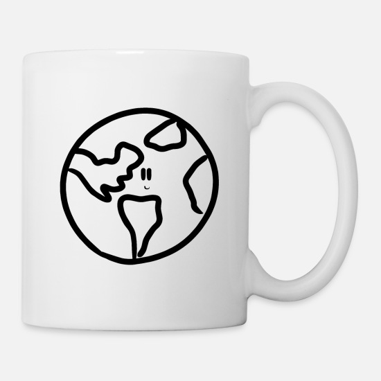 Save The World Mugs & Drinkware - world earth day save the planet environment nature - Mug white
